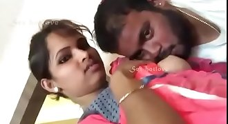 Cute Indian woman tit sucking by bf