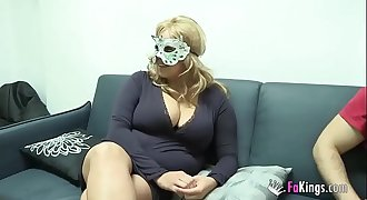Big boobed blonde want to fuck masked guy