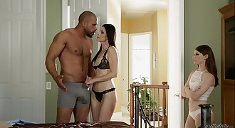 Teenager share her foster Dad's hard-on with her step mom - India Summer & Alice March