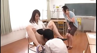 Japanese MILF teacher teachs student for hook-up in front of student's mother - Pt2 On FilfCam.com