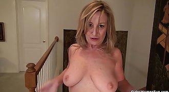 American milf Sally Steel lets you love her lady bits