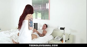 TeensLoveAnal- Tatted RedHead Ass Fucked By Boyfriend