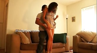 Bianca 1st ever shoot modeling does nude and gets fealt by modelpov