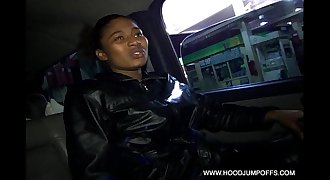 GHETTO THOT SUCK COCK & GETS FUCKED IN THE ASS WHILE DRIVING IN OUR CAR