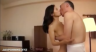 Teen Japanese daughter and daddy
